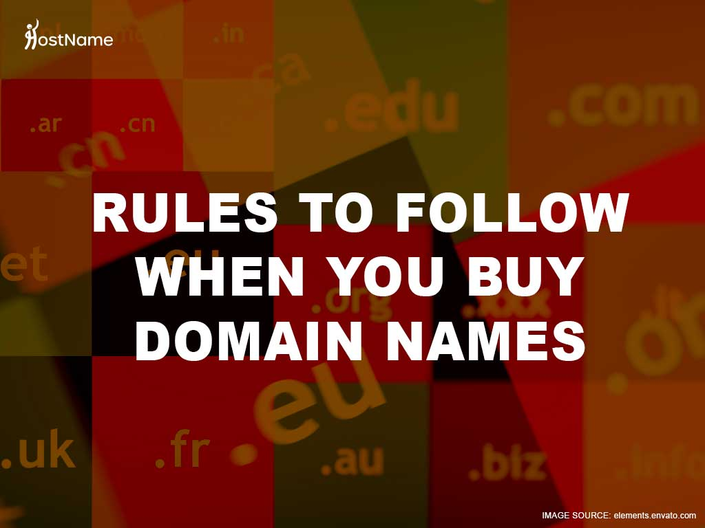 Rules for Choosing Your Domain Name